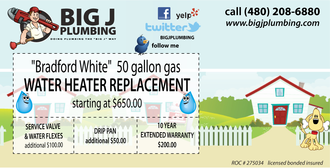 Big J Plumbing Specials scottsdale az